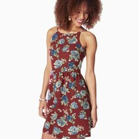 Falling Flower Fit & Flare Dress | Charming Charlie