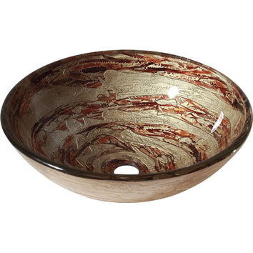 Avanity GVE420CS Copper Swirl Tempered Glass Vessel Sink