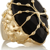 Rosantica - Baronessa gold-dipped onyx ring