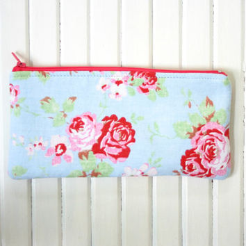 Cotton floral Pencil case Cosmetic pouch Back to school