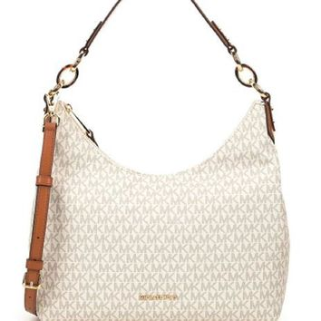 MICHAEL Michael Kors Isabella Medium Convertible Shoulder Bag (Vanilla)