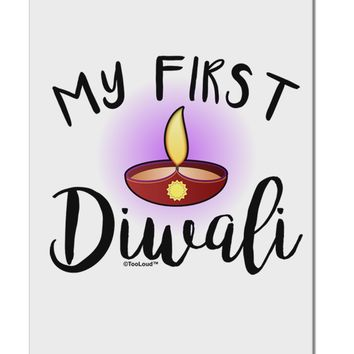 """My First Diwali Aluminum 8 x 12"""" Sign by TooLoud"""