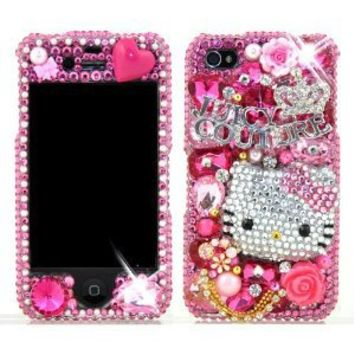 3D Swarovski Pink Hello Kitty Crystal Bling Case Cover for iphone 4   4S  AT T Verizon b8e5327d45cf