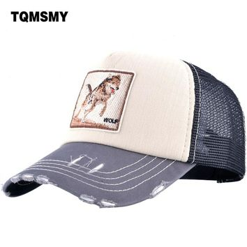 Trendy Winter Jacket TQMSMY Unisex men summer Baseball Caps Women Breathable Mesh Snapback Hip Hop Hats Wolf Men's Trucker Caps bone Casquette TMWLL AT_92_12