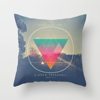 Seek Them Like Hidden Treasure - Proverbs 2:4 Throw Pillow by Pocket Fuel