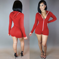 Long Sleeve Button Detail Romper
