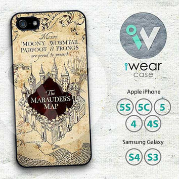 Harry Potter Marauders Map iPhone 4 Case,vintage classic marauder's map iPhone 4 4g 4s Hard & Rubber Case cover skin for iphone 4/4g/4s case