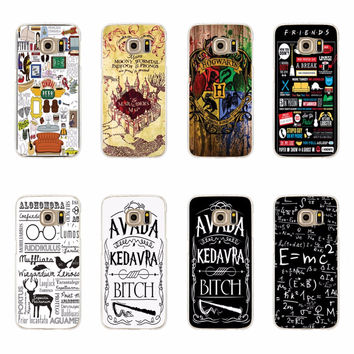 Avada Kedavra Harry Potter Friend Cases For Samsung Galaxy S3 S4 S5 Mini S6 S7 Edge Plus Note 3 4 5 A3 A5 J5 J710 A310 A510 J510