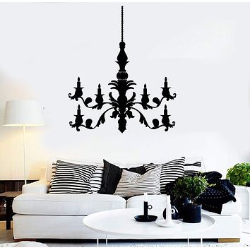 Vinyl Wall Decal Candle Chandelier House Room Decoration Stickers Unique Gift (ig3786)