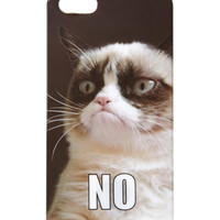 FOREVER 21 Grumpy Cat Phone Case Black/Cream One