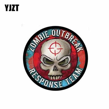 YJZT 9.9CM*9.9CM Classic Car Sticker Accessories ZOMBIE OUTBREAK RESPONSE TEAM Decal PVC 6-0278
