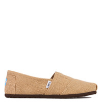 TOMS Women's Classic Natural Burlap Woven Slip Ons