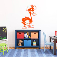Swan Wearing A Hat And Sneakers Vinyl Decal Sticker Art Design Kids Children Nursery  Room Nice Picture Home Decor Hall Wall ki220