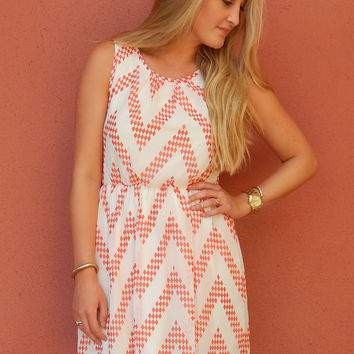 Diamond Chevron Dress