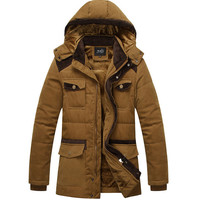 Cotton Winter Men's Fashion Stylish Patchwork Men Jacket Coat [9072681091]