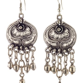 Vintage Turkish Lotus Drop Earrings