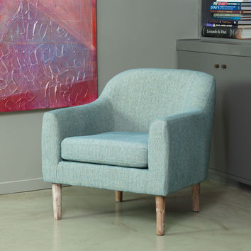 Bellview Retro Upholstered Accent Chair