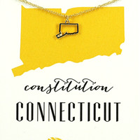 State Necklace - Gold - Connecticut