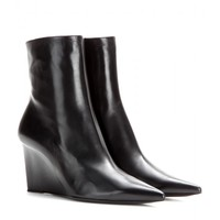 balenciaga - prism leather wedge boots