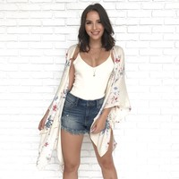 Grows On You Floral Kimono in Natural