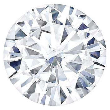 Certified Round Forever One Charles & Colvard Loose Moissanite Stone - 1.00 Carat - D Color - VVS1 Clarity