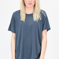 Short Sleeve Basic Modal Tee {Navy}