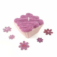 Highly Scented Cupcake Candle, Choose Your Favorite Bakery Scent, Pretty Party Favors, Hand Poured Natural Soy Wax, Teen Birthday Decor
