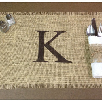 Burlap Placemats - set of 6