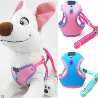 Small Pet Dog Puppy Cat Soft Mesh Fabric Adjustable Harness Lead Leash with Clip Gift