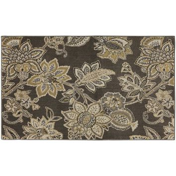 Mohawk Home Brown Floral PermaStrand Rug - 3' x 5'