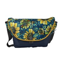 Sunflowers, Floral Art Customizable Messenger Bag