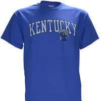 University of Kentucky UK DISTRESSED ARCH on BLUE Shirt