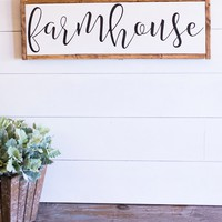 """Farmhouse"" Lettered Sign"