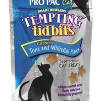 Pro Pac Tempting Tidbits Whitefish/Tuna Cat Treat 3oz