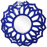 "Casey 32"" Wide Royal Blue Wall Mirror - #2C814 