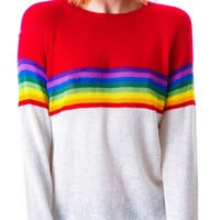Wildfox Couture Ski Lodge Mini 70's Sweater Clean White