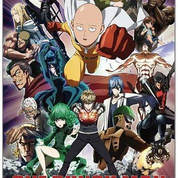 One-Punch Man Blanket Saitama and Group Sublimation Print