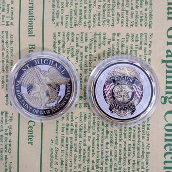Police Officer St. Michael Patron Saint of Law Enforcement Challenge Coin United State Coin