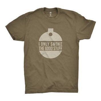 I Only Smoke The Good Stuff T-Shirt | Shirts for Outdoor Smokers, Big Green Egg Fans