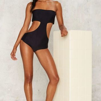 Aila Blue Reef Cutout Swimsuit