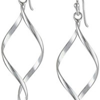 Sterling Silver Twist-Drop Earrings