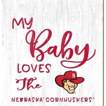 Nebraska Cornhuskers | My Baby Loves | Sign | Wood | Rope Hanger | NCAA