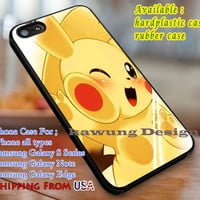 Cuteness Overload Pikachu Pokemon iPhone 6s 6 6s+ 6plus Cases Samsung Galaxy s5 s6 Edge+ NOTE 5 4 3 #cartoon #animated #Pokemon dl3
