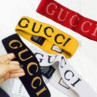 GUCCI Trending Hot Crochet Knit Knitted Headwrap Headband Warmer Head Hair Band 5 Color G