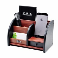 Wooden High-grade multifunctional Desk Stationery Organizer Storage Box Pen Pencil