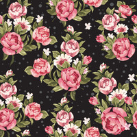 Removable Wallpaper - Roses on Black