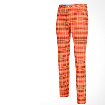 Plaid Golf Pants Men Pants Pgm Authentic Ball Sports Male Models Big Yards Trousers Slim Soft, Breathable Clothing Speeding Dry