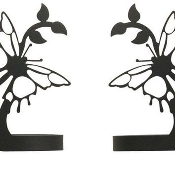 Wrought Iron Butterfly Curtain Tie Back -Set