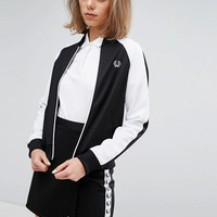 Fred Perry Archive Retro Fitted Zip Jacket with Contrast Sleeve at asos.com