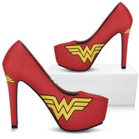Wonder Woman Custom Printed Women's Heels
